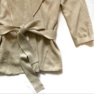 Banana Republic Sweaters - Banana Republic tan beige wrapped belted cardigan